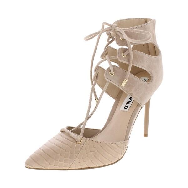 Karl Lagerfeld Paris Womens Addily8 Dress Heels Pumps Lace-Up - 7.5 medium (b,m)