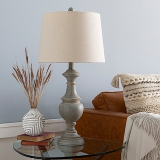 "Link to Ronan Classic Grey 28-inch Table Lamp - 28""H x 14""W x 14""D Similar Items in Table Lamps"