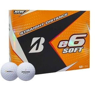 Bridgestone 2017 E6 Soft Golf Balls - Dozen White