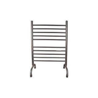 """Amba SAFS-33 Solo 33""""W Curved Stainless Steel Freestanding Towel Warmer - 110V"""