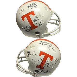 Tennessee Volunteers GU signed Full Size Auth Helmet 19 sigs circa (80's-90's-20's) w/ Phillip Fulmer, Andy Kelly- BAS #A84657
