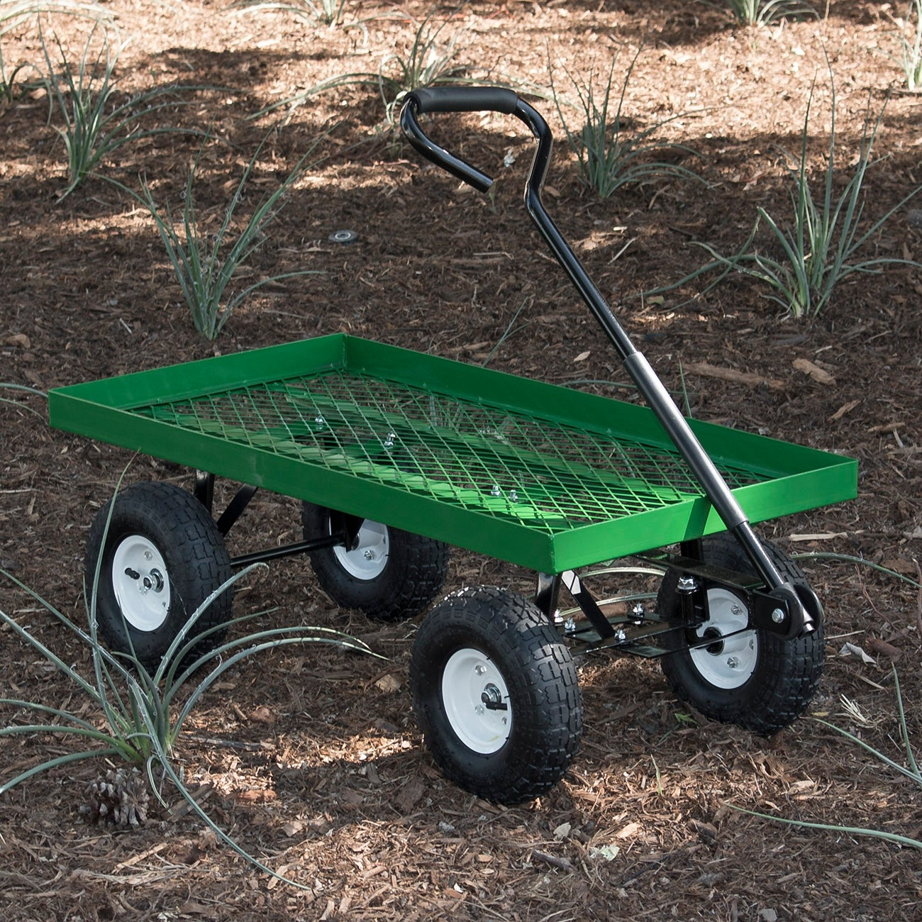 Shop Arksen 1000 Lb Flatbed Utility Garden Cart Padded Pull Handle