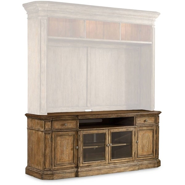 """Hooker Furniture 5291-55486 83"""" Wide Poplar Wood Media Cabinet from the Solana Collection - Light Caramel Latte"""