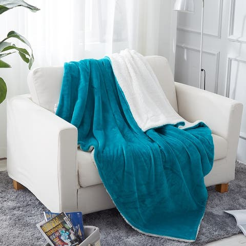 Sherpa Throw Blanket Plush Fleece Couch Blankets