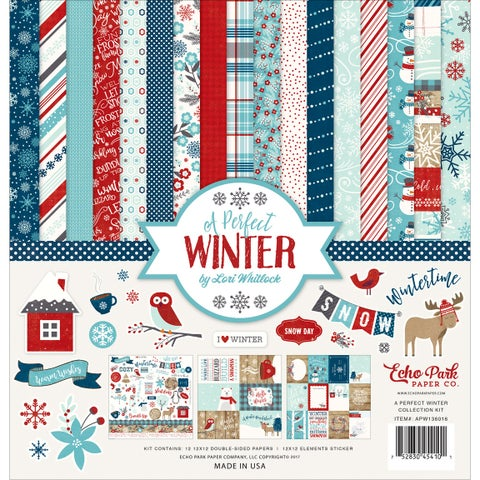 """Echo Park Collection Kit 12""""X12""""-A Perfect Winter"""