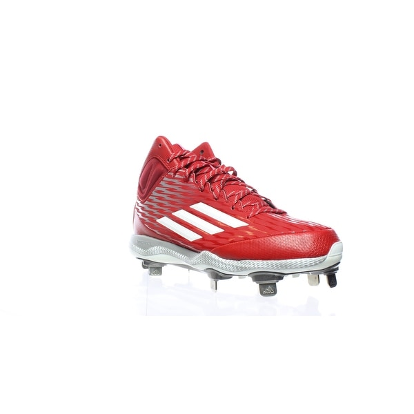 546fc0e7fe19 Shop Adidas Mens Poweralley 3 Mid Red Baseball Cleats Size 7 - Free ...