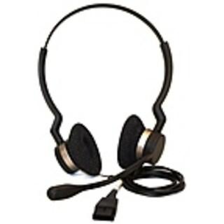 GN Netcom Jabra BIZ 2300 Series 2309-820-105 QD DUO Headset - Wired - On-ear - Noise Cancel-REFURBISHED