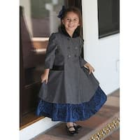 Angels Garment Gray Double Breasted Coat Toddler Little Girls 2T-8