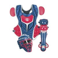 2018 Louisville Slugger Youth PG Series 5 Catchers Set, Navy/Scarlet Red