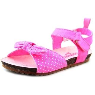 Osh Kosh Pear-G Toddler Open-Toe Canvas Pink Slingback Sandal