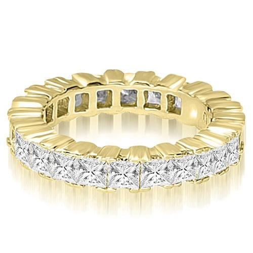 6.80 cttw. 14K Yellow Gold Princess Prong Diamond Eternity Ring
