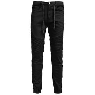 NE PEOPLE Mens Stretch Slim Fit Biker Jogger Pants (5 options available)