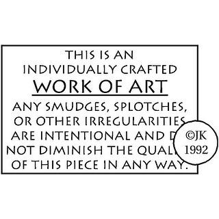 "Judikins Rubber Stamp 1.25""X1.75""-Work of Art"