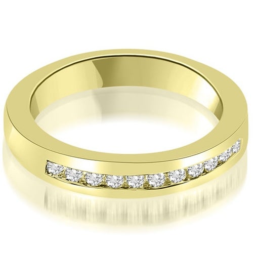 0.35 cttw. 14K Yellow Gold Classic Channel Round Cut Diamond Wedding Band
