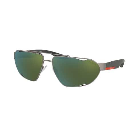 Prada Linea Rossa PS 56US DG13C0 66 Gunmetal Rubber Man Irregular Sunglasses