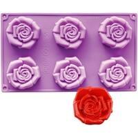 Ny Cake Novelty Baking Mold-Open Rose