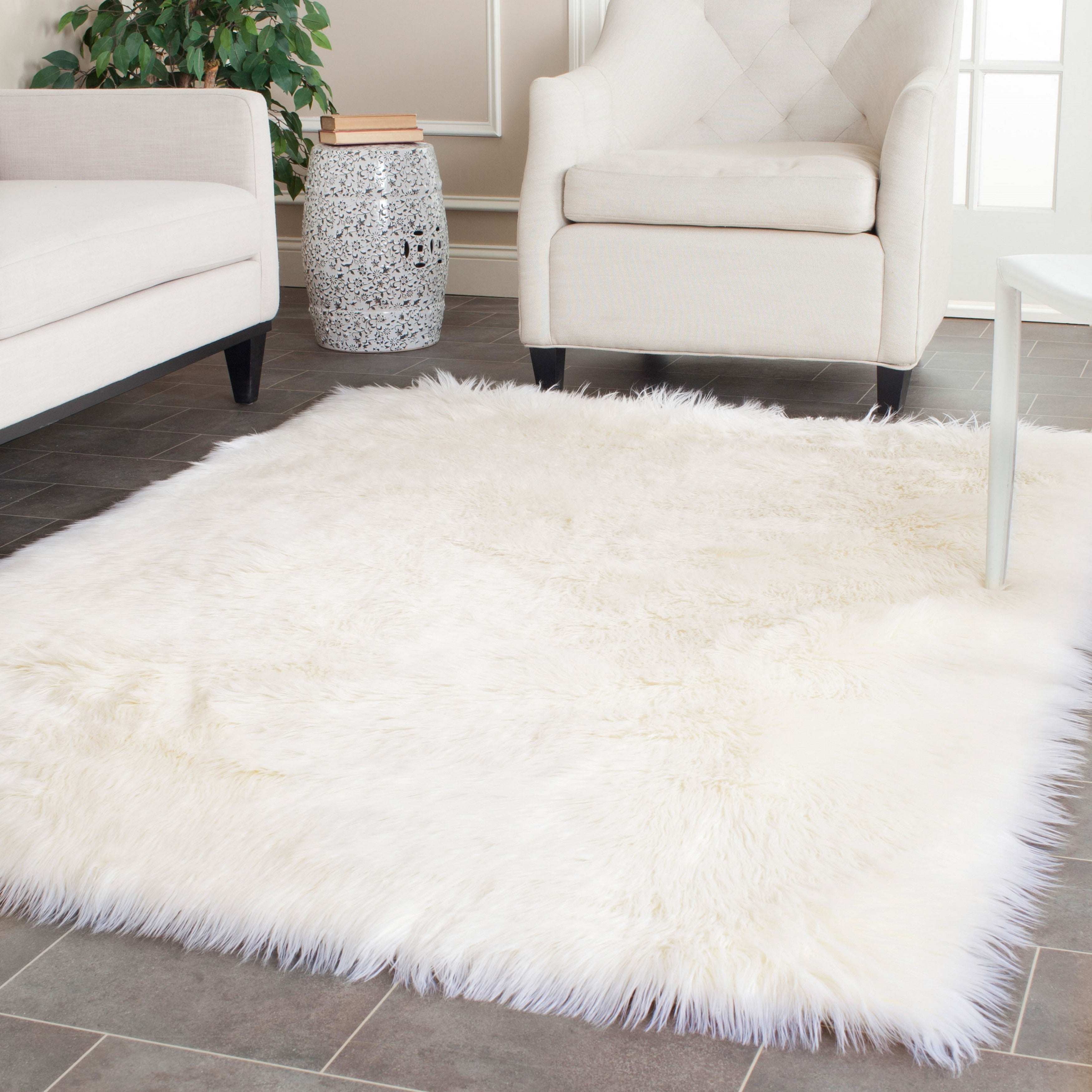 Shop For Safavieh Faux Sheep Skin Alexandria 2 4 Inch Thick Rug Get Free Delivery On Everything At Overstock Your Online Home Decor Store Get 5 In Rewards With Club O 13311324