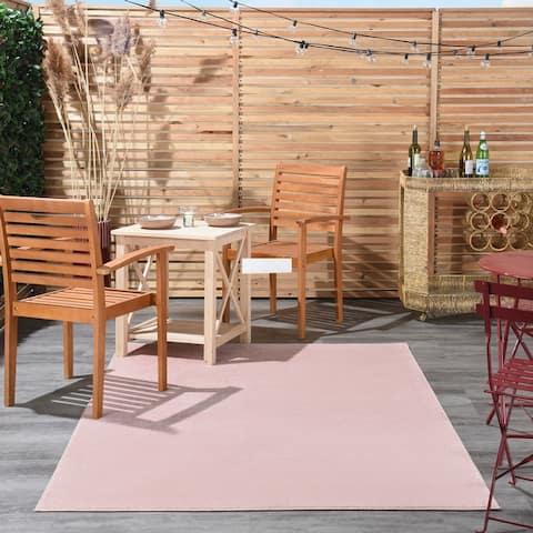 Nourison Essentials Solid Striated Contemporary Area Rug