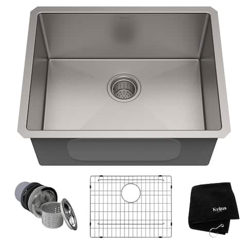 KRAUS Standart PRO Stainless Steel 23 inch Undermount Kitchen Sink