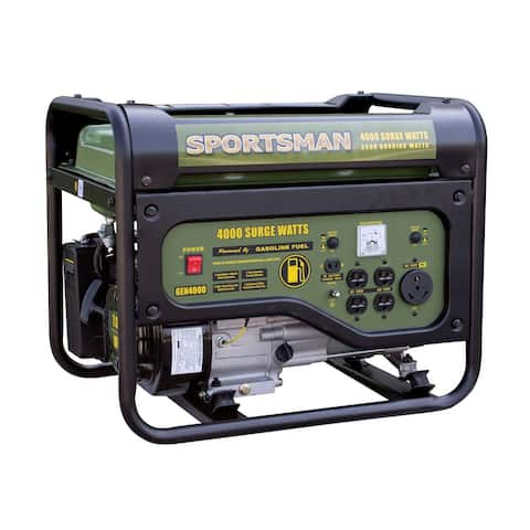 Offex Gasoline 4000 Watt Portable Generator, Black/Green - CARB Approved