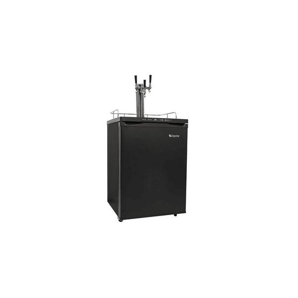 "EdgeStar KC3000TRIP 24"" Wide Triple Tap Kegerator with Digital Display for Full Size Kegs - N/A"