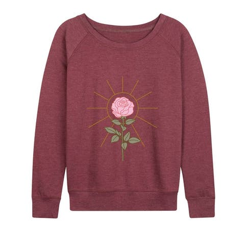 Sun And Flower - Women's Lightweight French Terry Pullover