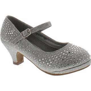 Lucky Top Jenny-12K Children Girl's Sparking Rhinestone Mary Jane Dress Pumps (5 options available)