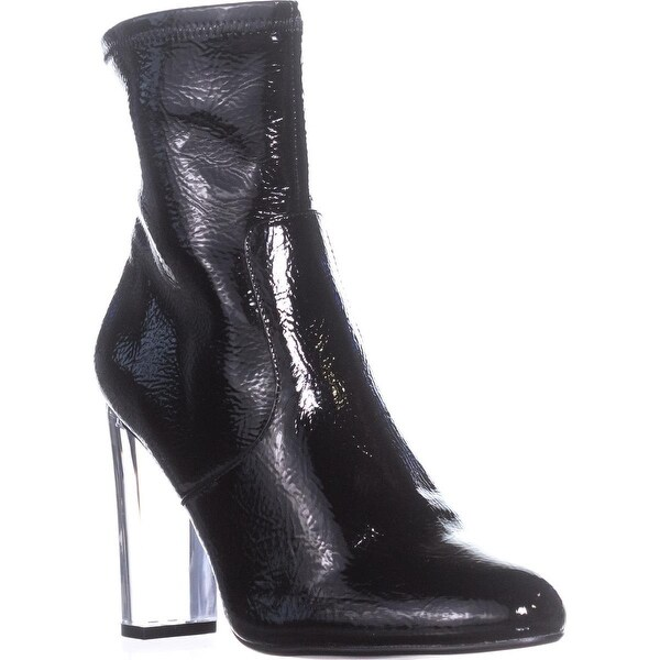 Steve Madden Eminent Pull On Ankle Boots, Black Patent
