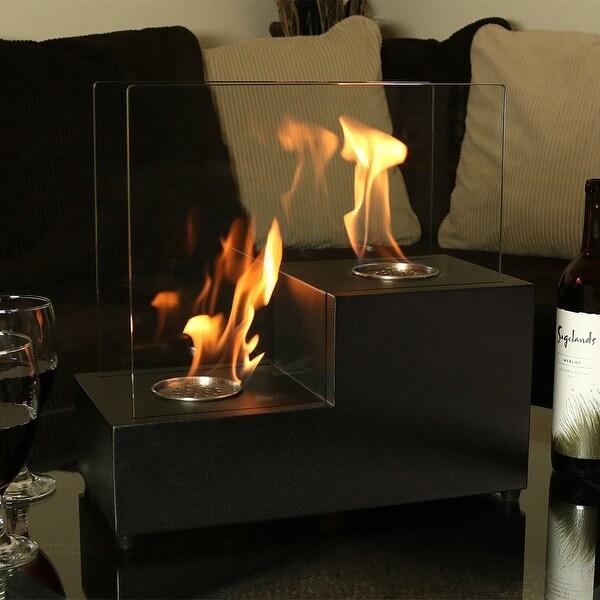 Sunnydaze Passo Ventless Bio Ethanol Tabletop Indoor Fireplace - Black