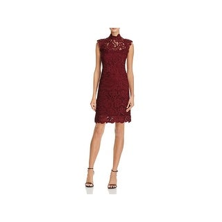 Laundry by Shelli Segal Womens Cocktail Dress Crochet Lace