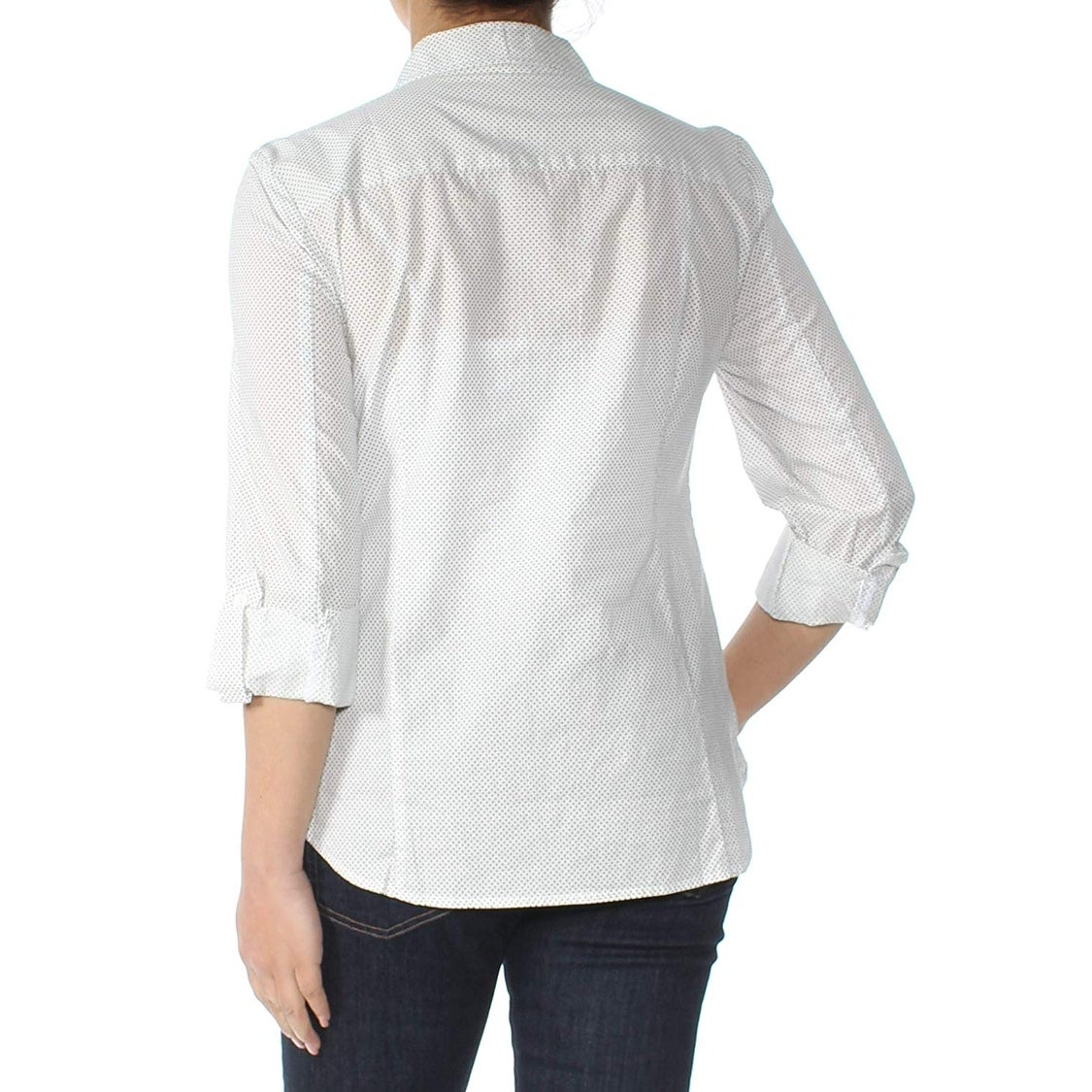 Tommy Hilfiger Women Large Dot Print Button Down Shirt