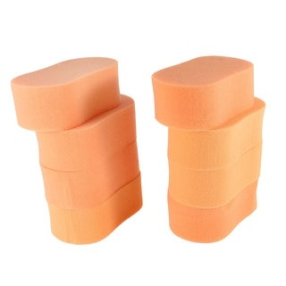 Unique Bargains 8 Pcs 8 Shape Sponge Waxing Polishing Cleaning Pad Orange for Auto