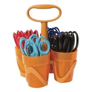 Fiskars 5 Inch Blunt Tip Kids Scissors Classroom Pack Caddy, Pack of 24