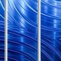 Statements2000 Blue Modern Metal Wall Art Panels Painting by Jon Allen - Blue Synchronicity 3P - Thumbnail 2