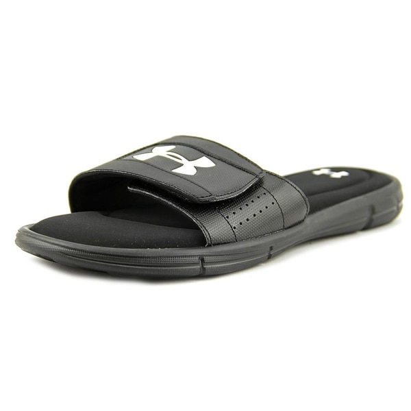 Under Armour Ignite V SL Men Open Toe Canvas Black Slides Sandal