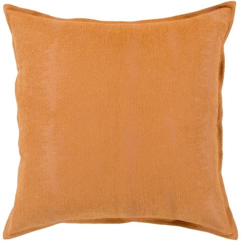 "Carson Carrington Tastebol Orange Solid Chenille Throw Pillow (22"" x 22"")"