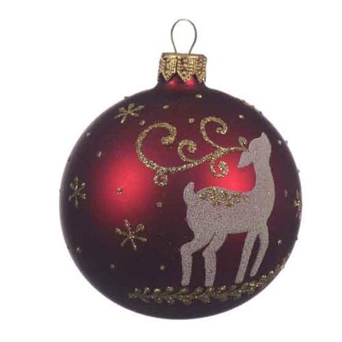 Deer Glass Ball Ornament