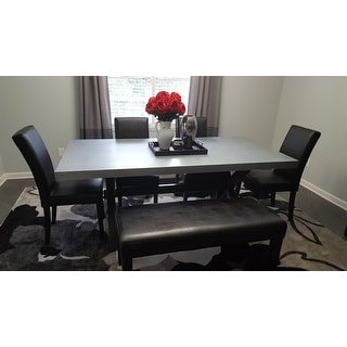The Gray Barn Outerlands Charcoal And Zinc Top Trestle Dinette Table