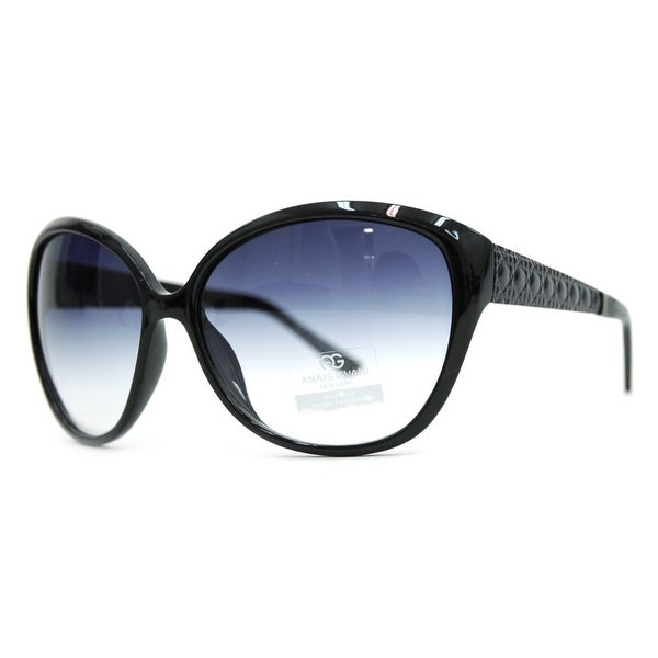 47a253a6f9c Anais Gvani Women  x27 s Oversized Fashion Sunglasses with Quilt-like  Texture Design