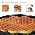 ZZ WF361 5 in 1 Heart Waffle Maker with Non-Stick Plate 1090-Watt, Silver - Thumbnail 5