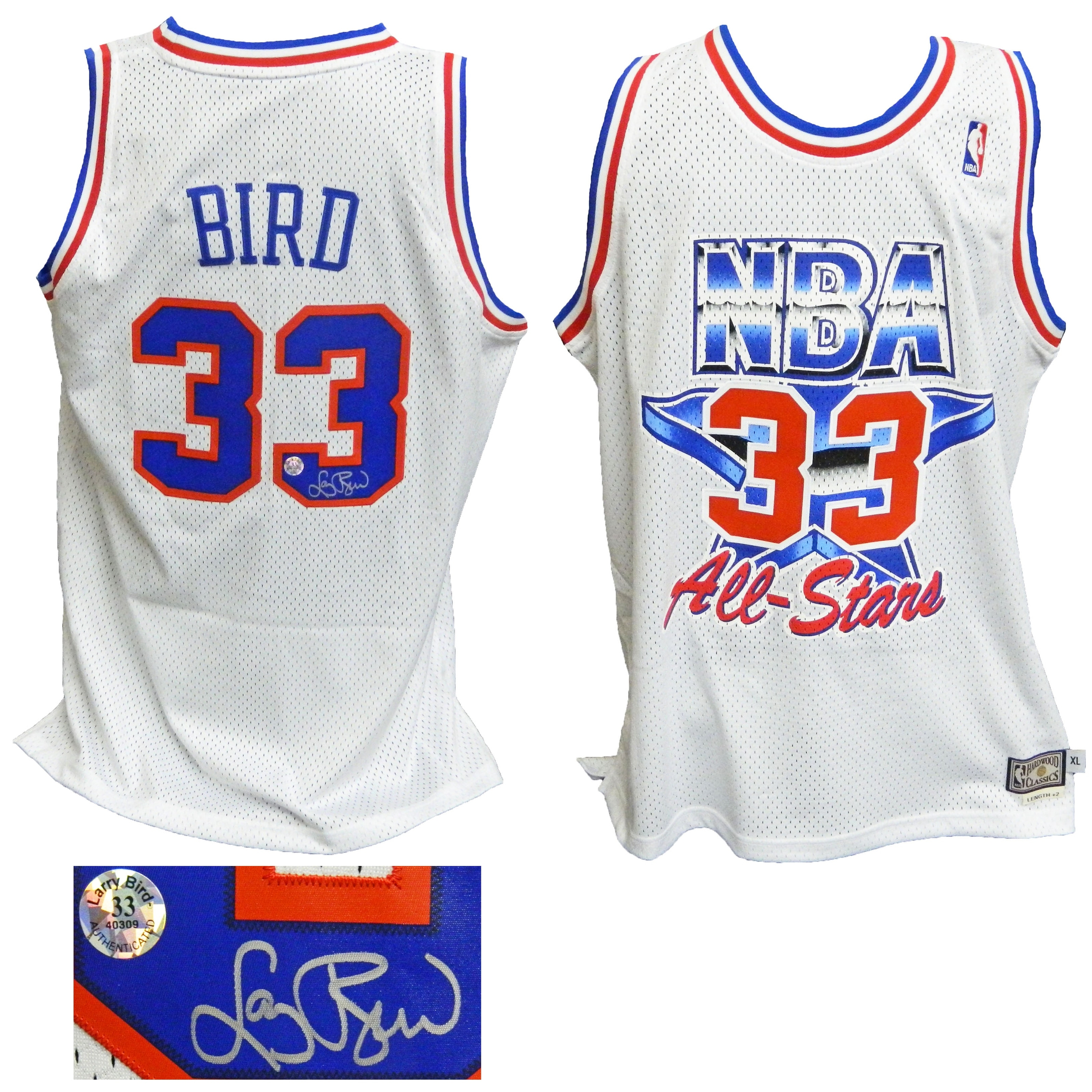 hot sale online 97140 d5bef Larry Bird Eastern Conference 1992 All Star Game Official Adidas White  Throwback Swingman Jersey