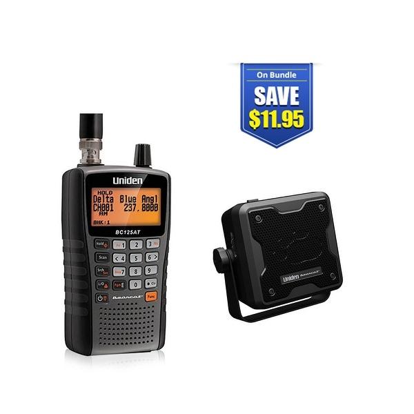 Uniden Bearcat BC125AT Handheld Scanner w/ External Speaker. Opens flyout.