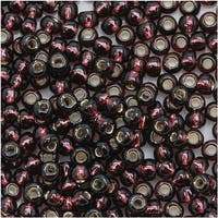 Toho Round Seed Beads 8/0 26C 'Silver Lined Amethyst' 8 Gram Tube