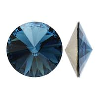 Swarovski Elements Crystal, 1122 Rivoli Fancy Stones 14mm, 2 Pieces, Montana Sf