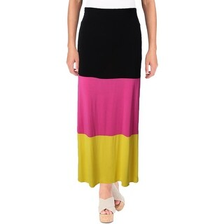 eric + lani Womens Juniors Maxi Skirt Converitble Colorblocked