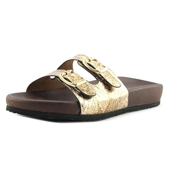 Volatile Luana Women Open-Toe Synthetic Gold Slingback Sandal