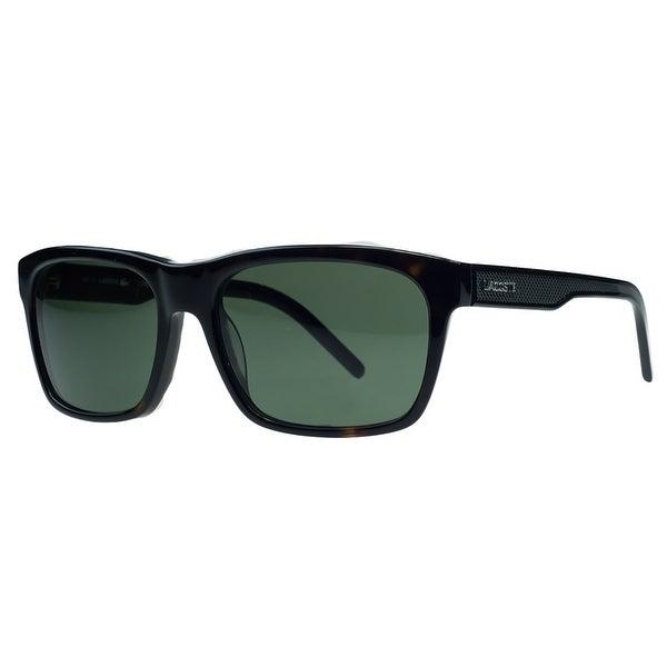 5e1f1b2460fa Shop Lacoste L703 S 214 Dark Havana Rectangular Sunglasses - 55-17 ...