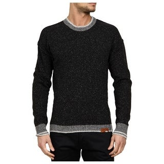 Diesel Bakul Crewneck Sweater XX-Large Charcoal and Grey Pullover Wool Blend