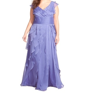 Adrianna Papell NEW Purple Women's Size 16W Plus Tiered Ball Gown
