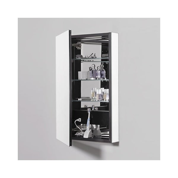"Robern PLM2430G PL Series 23-1/4"" Single Door Medicine Cabinet - Classic Gray - N/A"
